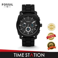 Fossil Machine Chronograph Silicone Men's Watch FS4487