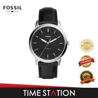 Fossil Minimalist Three-Hand Date Leather Men's Watch FS5398