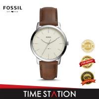Fossil Minimalist Three-Hand Date Leather Men's Watch FS5439