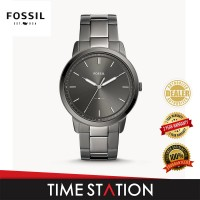 Fossil Minimalist Three-Hand Smoke Stainless Steel Men's Watch FS5459