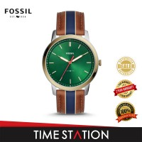 Fossil Minimalist Three-Hand Striped Tan Leather Men's Watch FS5550