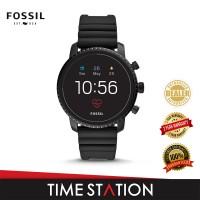 Fossil Explorist Gen 4 HR Black Silicone Men's Smart Watch FTW4018