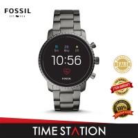Fossil Explorist Gen 4 HR Black Stainless Steel Men's Smart Watch FTW4012