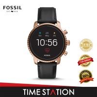 Fossil Explorist Gen 4 HR Black Leather Men's Smart watch FTW4017