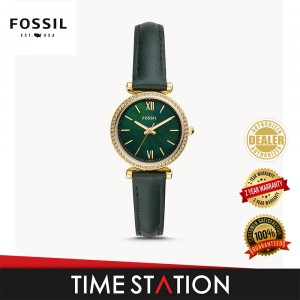 Fossil Carlie Three-Hand Leather Women's Watch ES4651