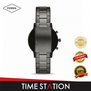 Fossil The Carlyle Gen 5 HR Smoke Stainless Steel Men's Smart Watch FTW4024