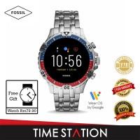 Fossil Garrett Gen 5 HR Silver Stainless Steel Men's Smart Watch FTW4040