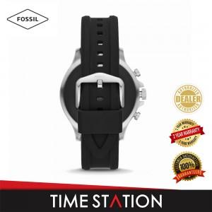 Fossil Garrett Gen 5 HR Black Silicone Men's Smart Watch FTW4041