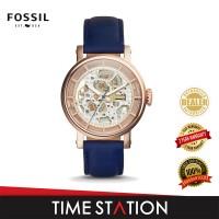 Fossil Boyfriend Auto Skeleton Leather Women's Watch ME3086