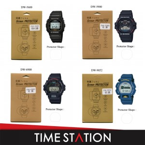 Screen Protector for Casio G-Shock DW-Series (HD Tempered Glass with Hydrophobic Coating / HD Film)
