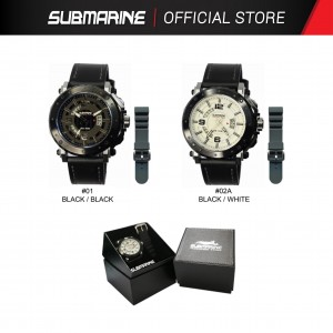 SUBMARINE TL-1151-BLK-MD-LS / TL-1151-MD-LS ANALOGUE MEN'S WATCH
