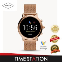 【Time Station】Fossil Julianna Gen 5 HR Rose Gold Stainless Steel Women's Smart Watch FTW6062