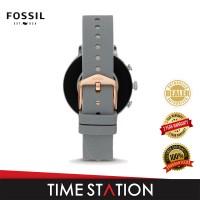 【Time Station】Fossil Venture Gen 4 HR Grey Leather Women's Smart Watch FTW6016