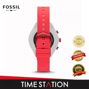 Fossil Sport Red Silicone Women's Smart Watch FTW6027