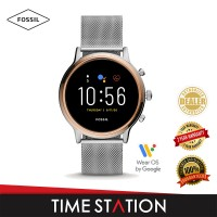 【Time Station】Fossil Julianna Gen 5 HR Silver Stainless Steel Women's Smart Watch FTW6061