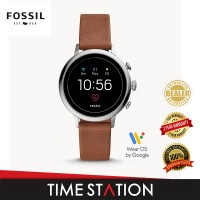 Fossil Venture Gen 4 HR Brown Leather Women's Smart Watch FTW6014