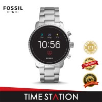 Fossil Explorist Gen 4 HR Silver Stainless Steel Men's Smart Watch FTW4011