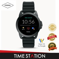 【Timestation】Fossil Gen 5E Black Silicone Men's Smart Watch FTW4047