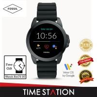 【Timestation】Fossil Gen 5E Black Silicone Men's Smart Watch FTW4047