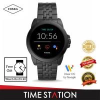【Timestation】Fossil Gen 5E Black Stainless Steel Men's Smart Watch FTW4056