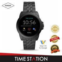 【Timestation】Fossil Gen 5E Black Stainless Steel Men's Smart Watch FTW4056