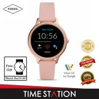 【Timestation】Fossil Gen 5E Blush Silicone Women's Smart Watch FTW6066
