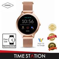 【Timestation】Fossil Gen 5E Rose Gold Stainless Steel Women's Smart Watch FTW6068