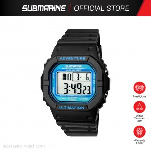 SUBMARINE TP-1373-M-PS(B) DIGITAL MEN'S WATCH