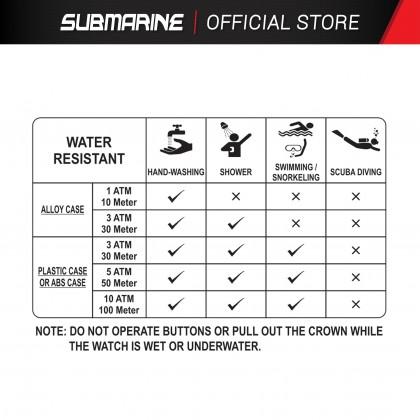 SUBMARINE Men Watch Fashion Quartz Analog Metal Stainless Steel Strap Waterproof Jam Tangan Lelaki TA-5271-A/BLK-MDD-MT