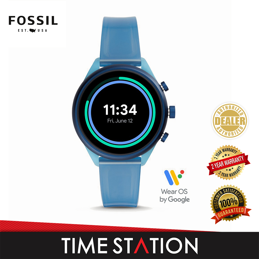 Fossil Sport Blue Silicone Women's Watch FTW6059