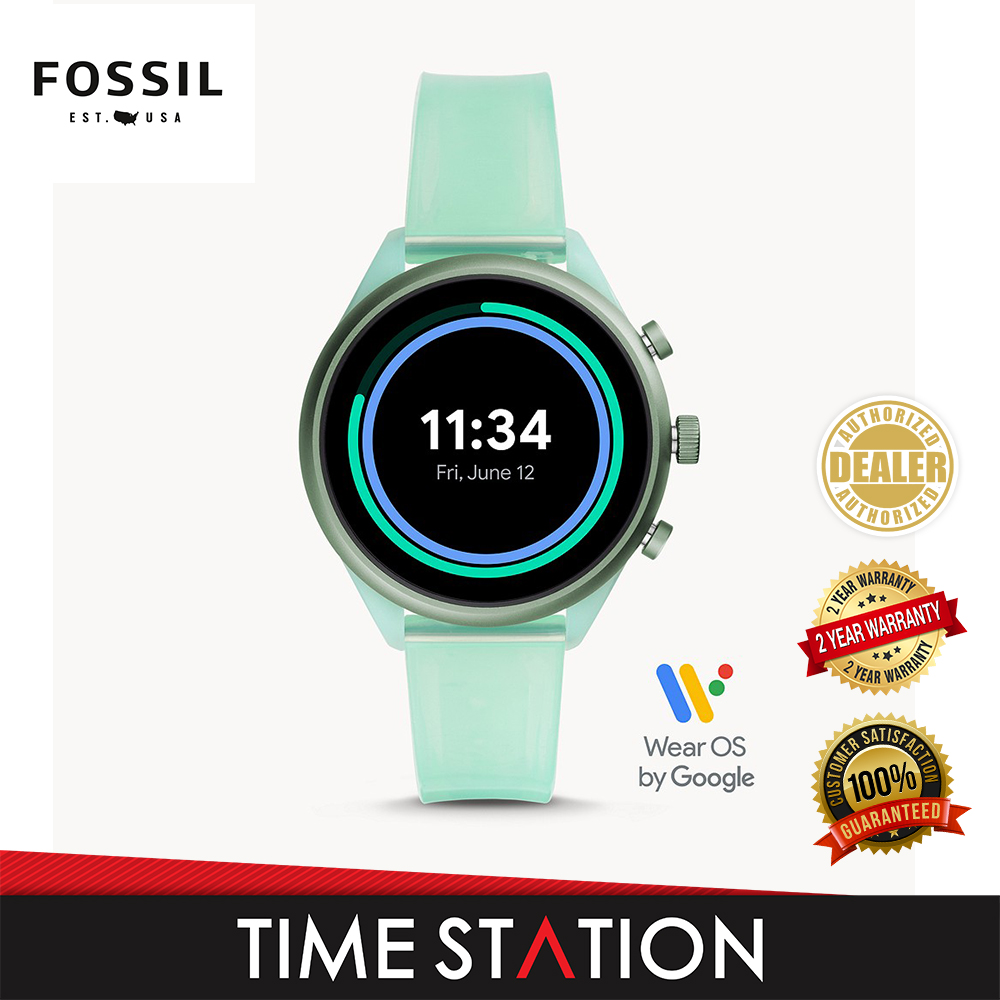 Fossil Sport Mint Silicone Women's Smart Watch FTW6057