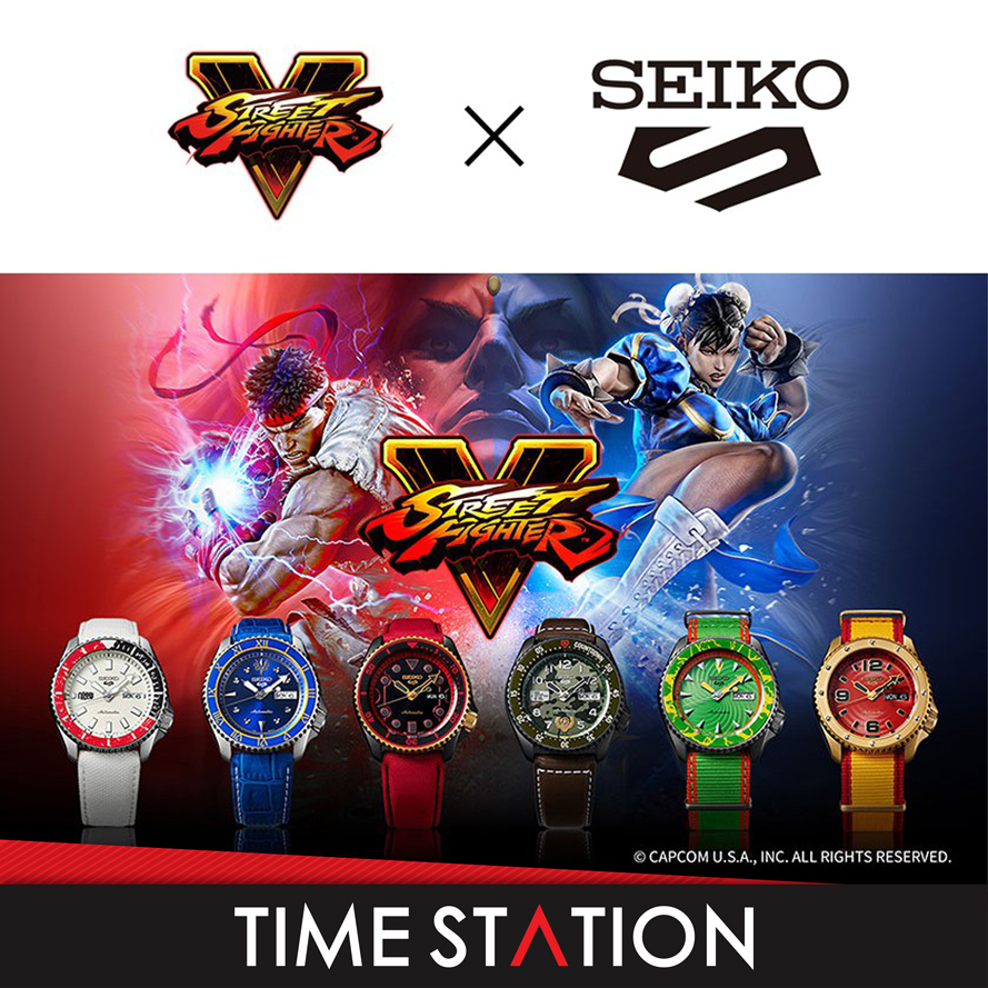 Time StationSEIKO 5 SPORTS STREET FIGHTER AUTOMATIC WINDING MECHANICAL MENS WATCH **LIMITED EDITION**