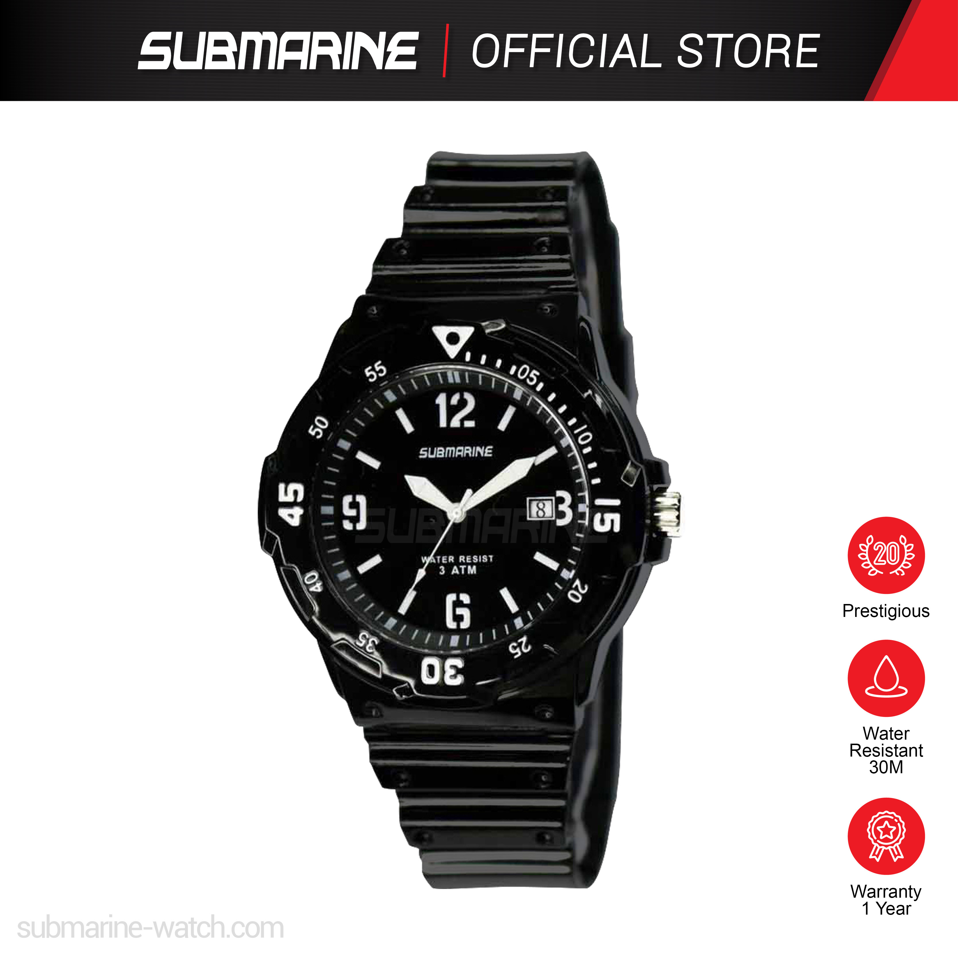 SUBMARINE TP-2108-MD-PS ANALOGUE WATCH